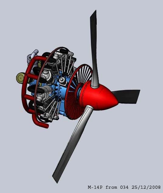 Модель двигателя М-14П